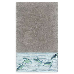 Linum Home Textiles Mia Sea Turtle Bath Towel in Dark Grey
