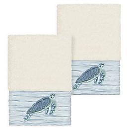 Linum Home Textiles Mia Sea Turtle Washcloths (Set of 2)
