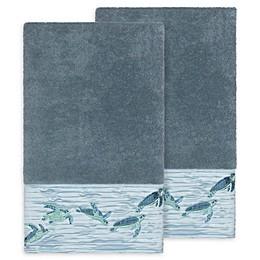 Linum Home Textiles Mia Sea Turtle Bath Towels (Set of 2)