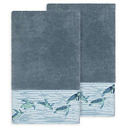Linum Home Textiles Mia Sea Turtle Bath Towels (Set of 2)