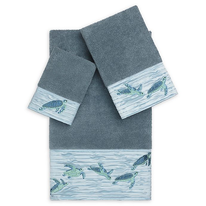 Alternate image 1 for Linum Home Textiles Mia Sea Turtle Bath Towel Collection