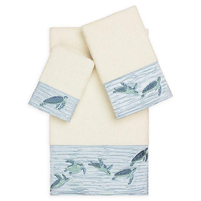 Alternate image 1 for Linum Home Textiles Mia Sea Turtle 3-Piece Bath Towel Set in Cream