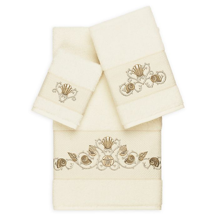 Alternate image 1 for Linum Home Textiles Bella 3-Piece Seashell Towel Set in Cream