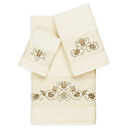 Linum Home Textiles Bella 3-Piece Seashell Towel Set in Cream
