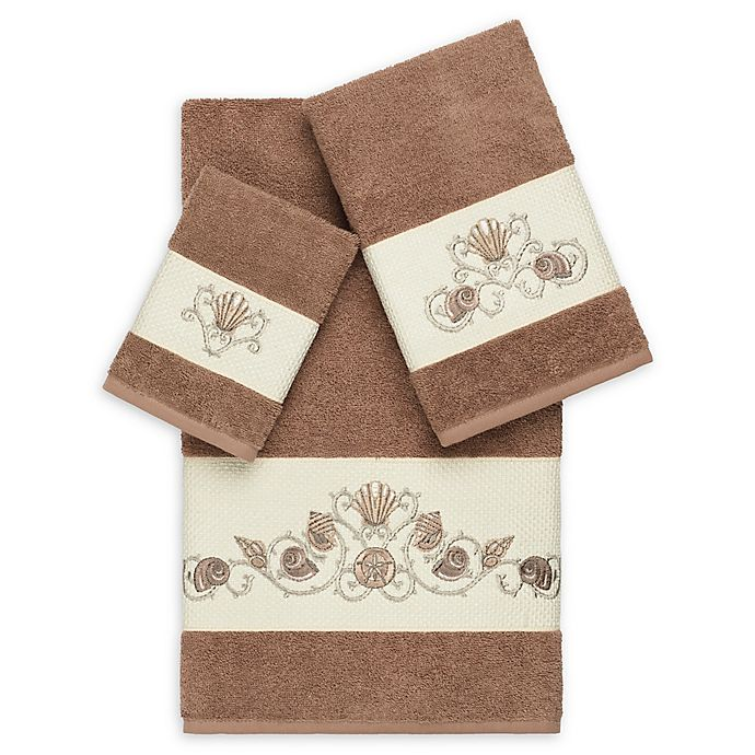 Alternate image 1 for Linum Home Textiles Bella 3-Piece Seashell Towel Set