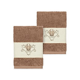 Linum Home Textiles Bella Seashell Washcloths (Set of 2)