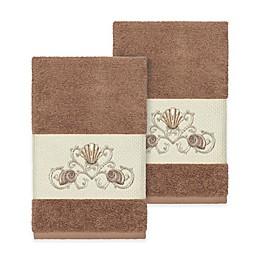 Linum Home Textiles Bella Seashell Hand Towels (Set of 2)