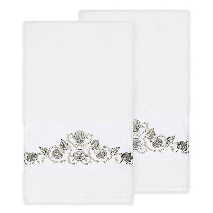 Alternate image 1 for Linum Home Textiles Bella Seashell Bath Towels (Set of 2)