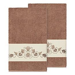 Linum Home Textiles Bella Seashell Bath Towels in Light Grey (Set of 2)