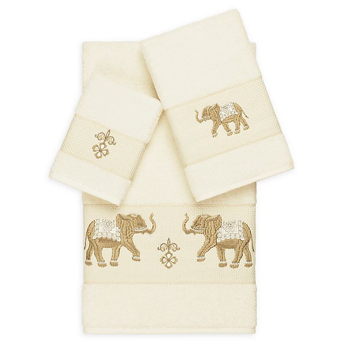 Alternate image 1 for Linum Home Textiles 3-Piece Quinn Bath Towel Set in Cream