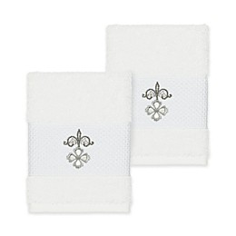 Linum Home Textiles Quinn Washcloths (Set of 2)