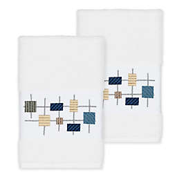 Linum Home Textiles Khloe Hand Towels in White (Set of 2)