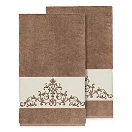 Linum Home Textiles Scarlet Crest Bath Towels (Set of 2)