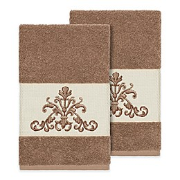 Linum Home Textiles Scarlet Crest Hand Towels (Set of 2)