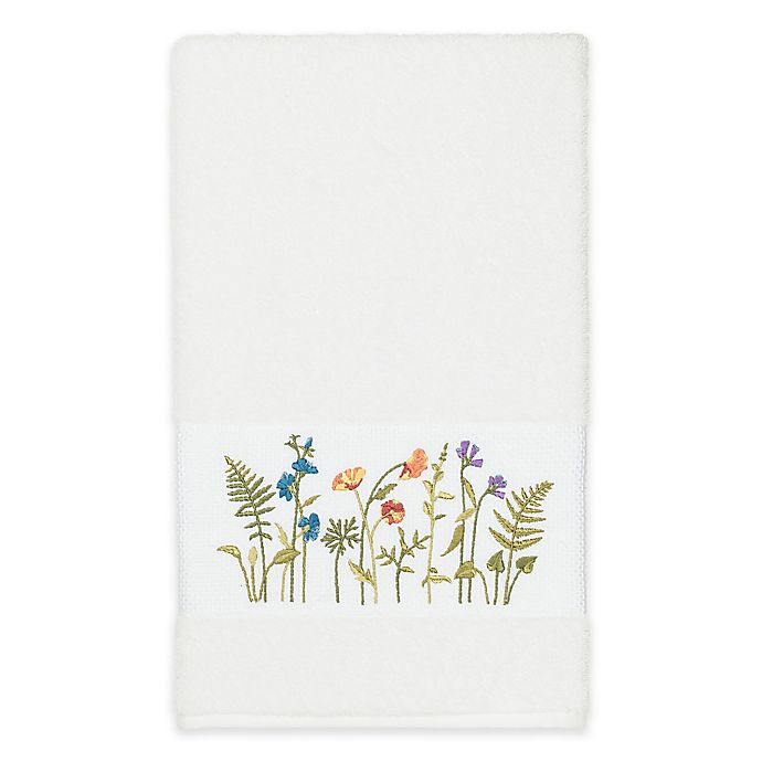 Alternate image 1 for Linum Home Textiles Serenity Wildflower Bath Towel in White