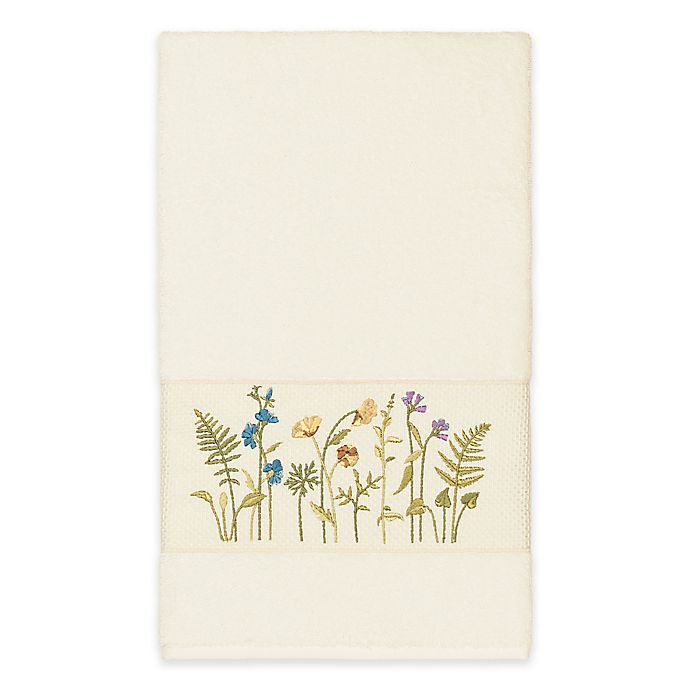 Alternate image 1 for Linum Home Textiles Serenity Wildflower Bath Towel in Cream