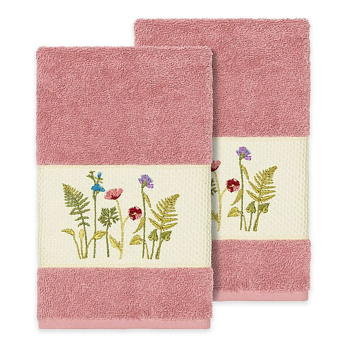 Alternate image 1 for Linum Home Textiles Serenity Wildflower Hand Towels (Set of 2)