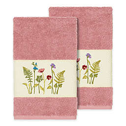 Linum Home Textiles Serenity Wildflower Hand Towels (Set of 2)