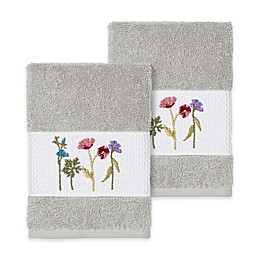 Linum Home Textiles Serenity Wildflower Washcloths (Set of 2)