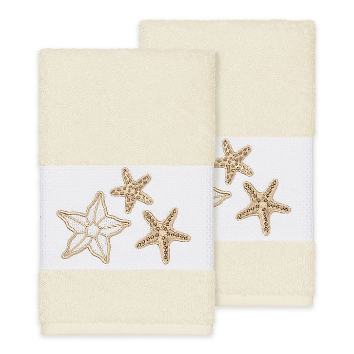 Alternate image 1 for Linum Home Textiles Lydia Hand Towels (Set of 2)