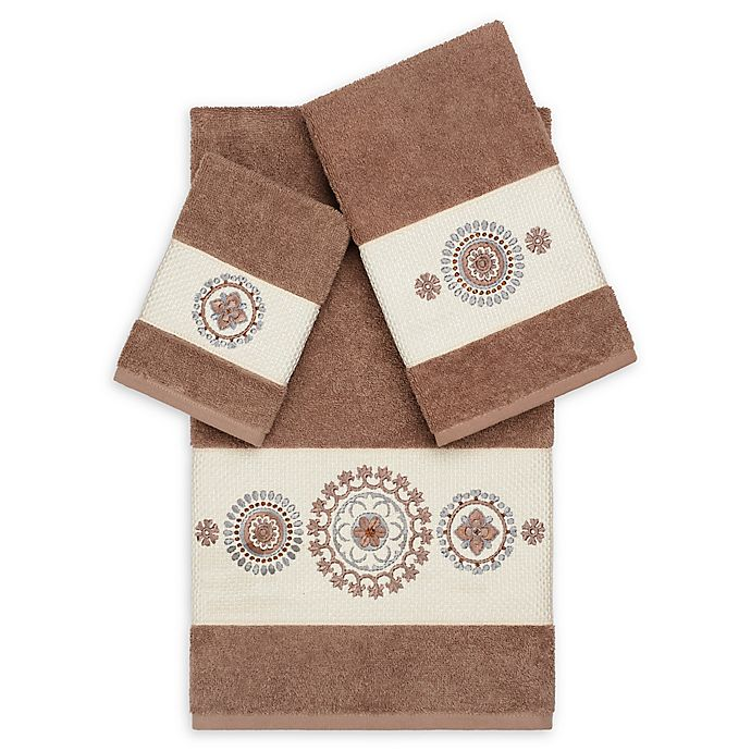 Alternate image 1 for Linum Home Textiles Isabella 3-Piece Bath Towel Set in Latte