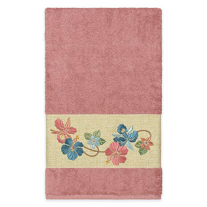 Alternate image 1 for Linum Home Textiles Caroline Bath Towel in Tea Rose