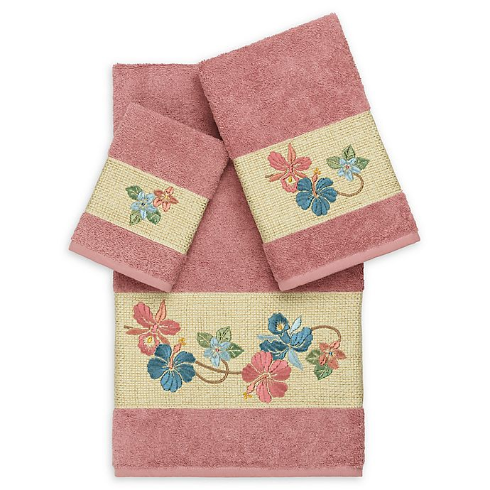 Alternate image 1 for Linum Home Textiles Caroline 3-Piece Bath Towel Set in Tea Rose