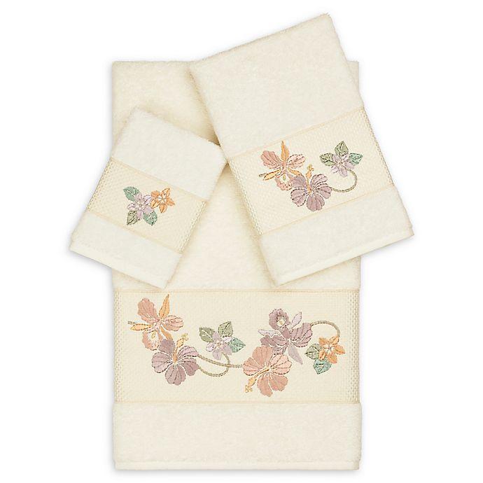 Alternate image 1 for Linum Home Textiles Caroline 3-Piece Bath Towel Set in Cream