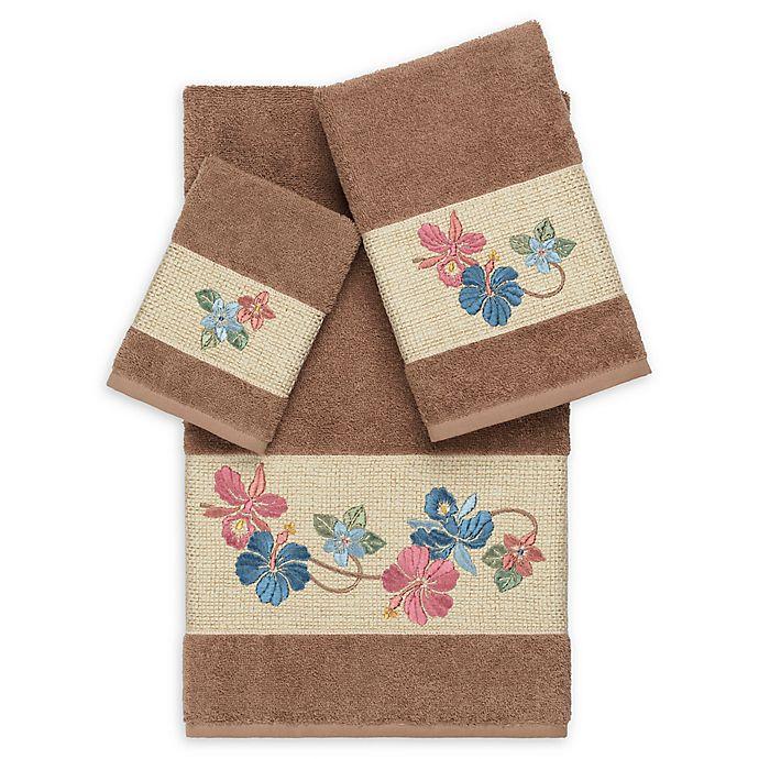 Alternate image 1 for Linum Home Textiles Caroline 3-Piece Bath Towel Set in Latte