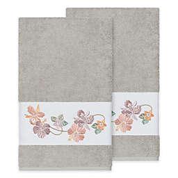 Linum Home Textiles Caroline Bath Towel in Light Grey (Set of 2)