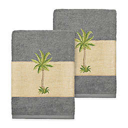 Linum Home Textiles Colton Washcloths in Dark Grey (Set of 2)