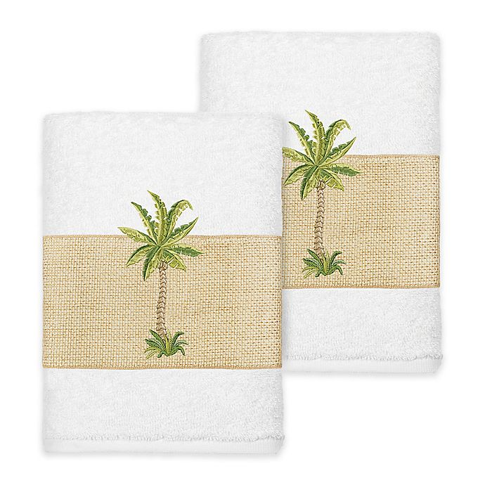 Alternate image 1 for Linum Home Textiles Colton Washcloths in White (Set of 2)