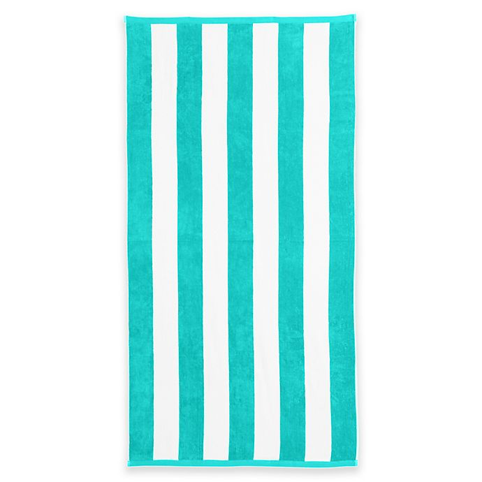 Alternate image 1 for Great Bay Home Cabana Beach Towels in Teal (Set of 2)