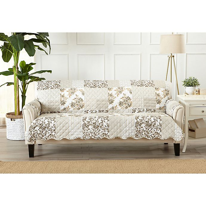 Alternate image 1 for Great Bay Home Patchwork Scalloped Sofa Protector