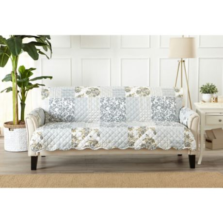 Patchwork Scalloped Sofa Protector