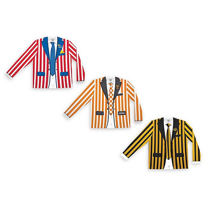 Alternate image 1 for Collegiate Men's Striped Faux Suit Long Sleeve T-Shirt Collection