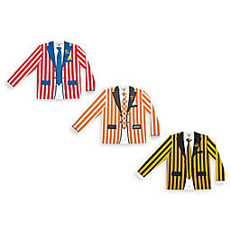 Collegiate Men's Striped Faux Suit Long Sleeve T-Shirt Collection
