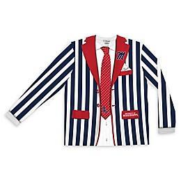University of Mississippi Men's Striped Faux Suit Long Sleeve T-Shirt