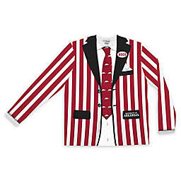 University of Arkansas Men's Striped Faux Suit Long Sleeve T-Shirt