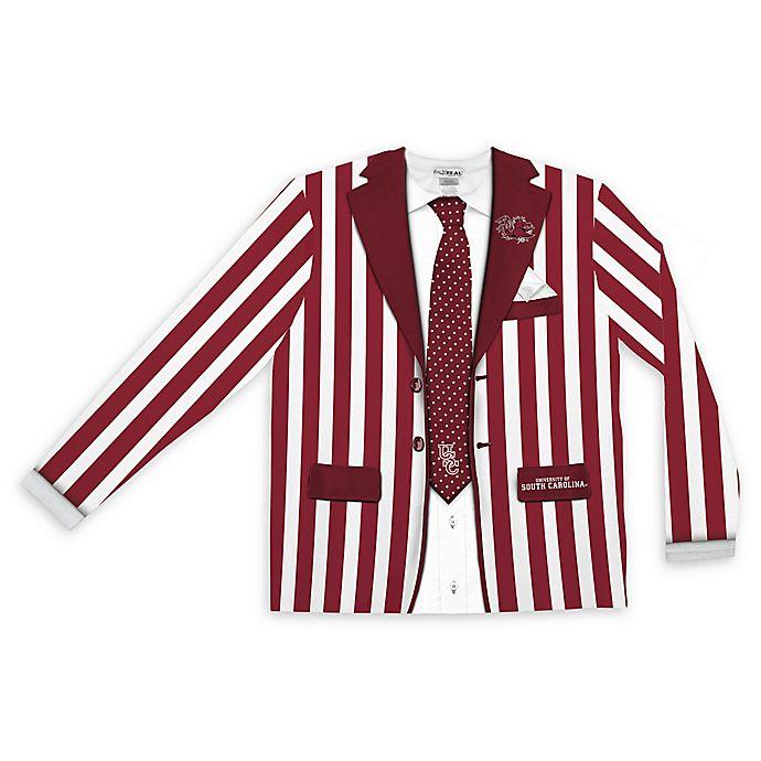 Alternate image 1 for University of South Carolina Men's Extra Large Striped Faux Suit Long Sleeve T-Shirt
