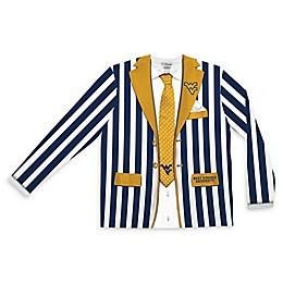 West Virginia University Men's Striped Faux Suit Long Sleeve T-Shirt