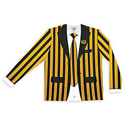 University of Iowa Men's Striped Faux Suit Long Sleeve T-Shirt