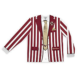 Boston College Men's Striped Faux Suit Long Sleeve T-Shirt