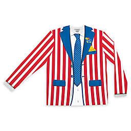 University of Kansas Men's Striped Faux Suit Long Sleeve T-Shirt