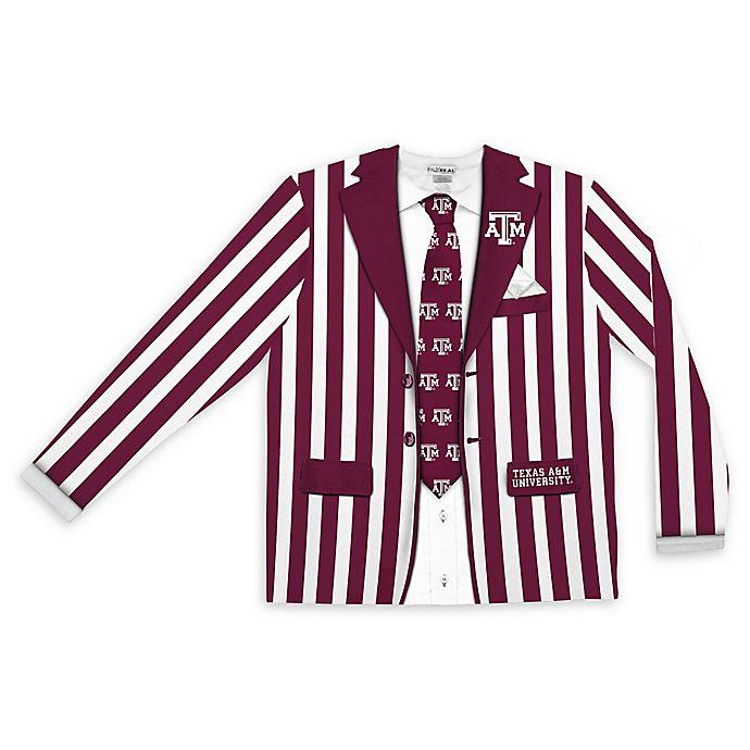 Texas A M University Men S Striped Faux Suit Long Sleeve T Shirt Bed Bath Beyond
