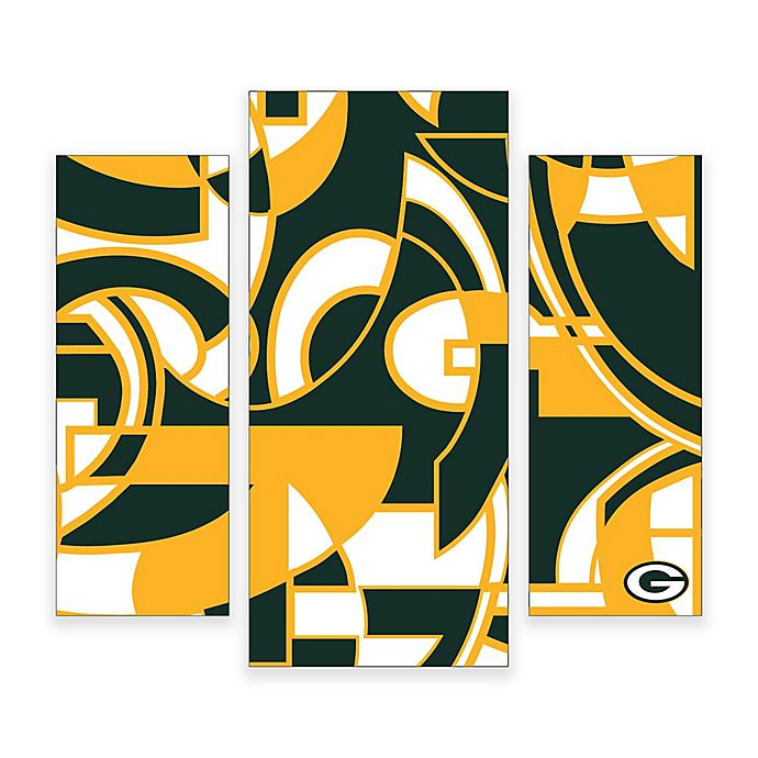 Alternate image 1 for NFL Green bay Packers 3-Piece Canvas Modern Wall Art Set