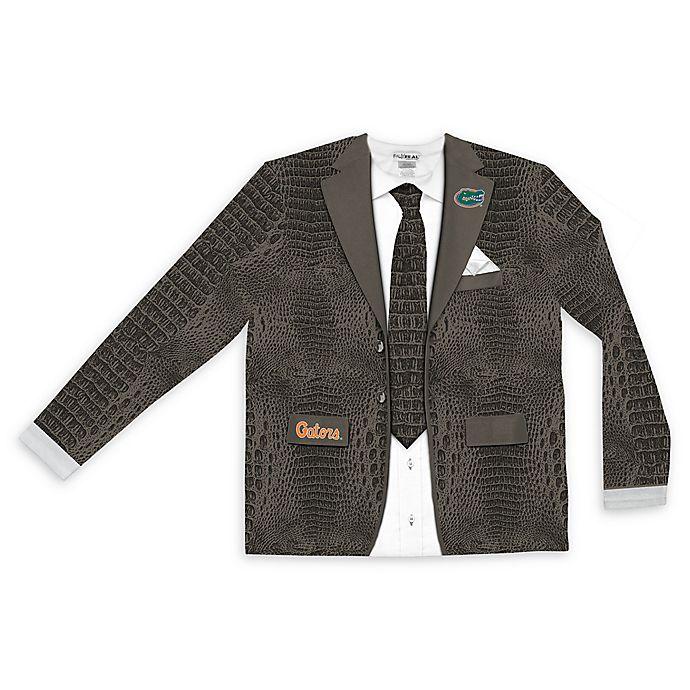Alternate image 1 for University of Florida Men's Medium Faux Green Alligator Skin Suit Long Sleeve T-Shirt