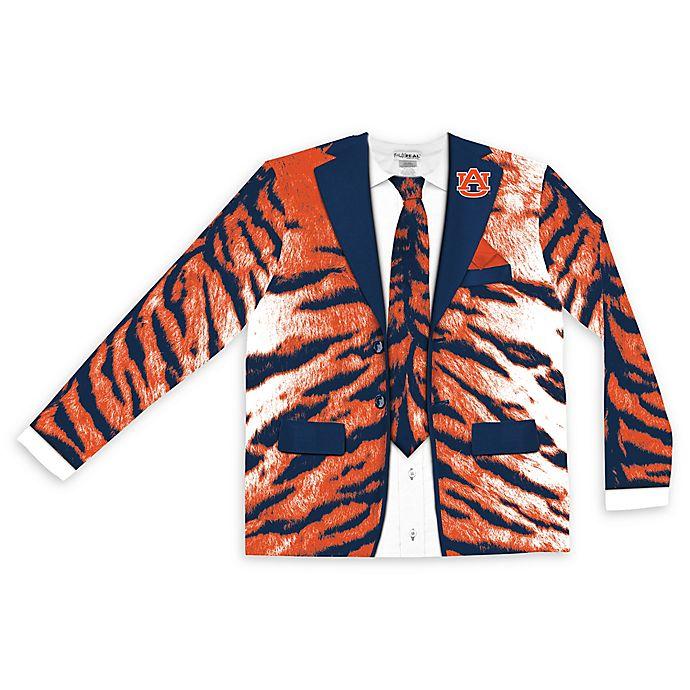 Alternate image 1 for Auburn University Men's Large Faux Tiger Skin Suit Long Sleeve T-Shirt