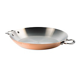 Mauviel M'150s Copper and Stainless Steel Cookware 13.7-Inch Paella Pan