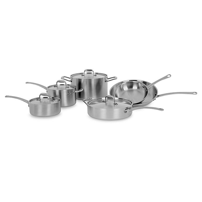 American Kitchen Tri-Ply 10-Piece Cookware Set and Open ...